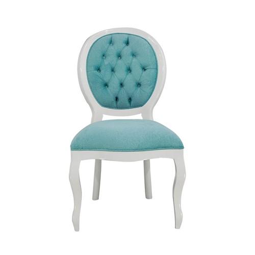 Cadeira de Jantar Medalhão Lisa Sem Braço - Wood Prime 15683 Liso