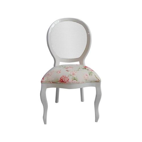 Cadeira de Jantar Medalhão Lisa Sem Braço - Wood Prime 15687 Liso