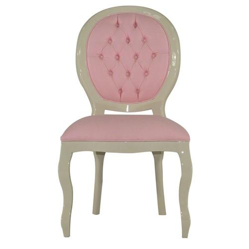 Cadeira de Jantar Medalhão Lisa Sem Braço - Wood Prime 25432 Liso