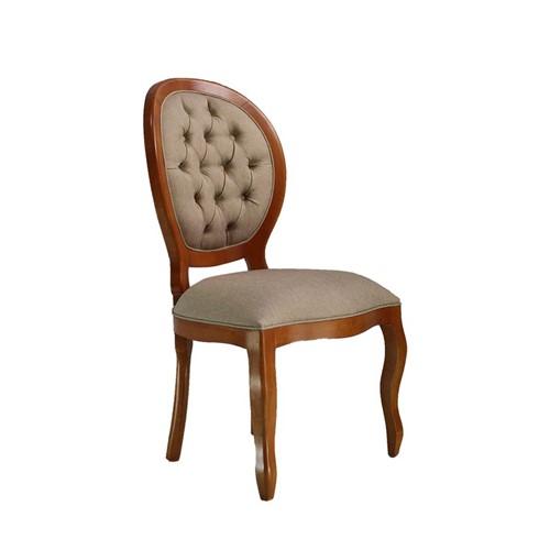 Cadeira de Jantar Medalhão Lisa Sem Braço - Wood Prime 25448 Liso