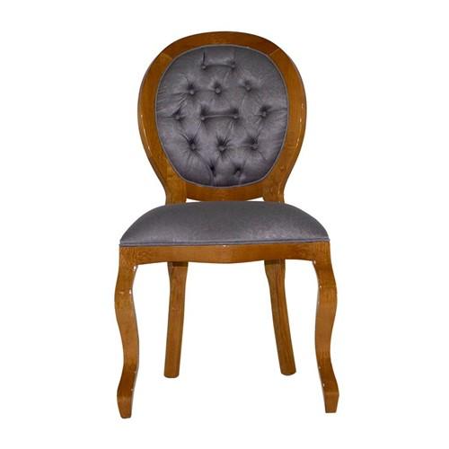 Cadeira de Jantar Medalhão Lisa Sem Braço - Wood Prime 25452 Liso