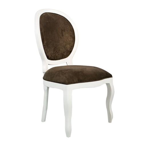 Cadeira de Jantar Medalhão Lisa Sem Braço - Wood Prime 25456 Liso