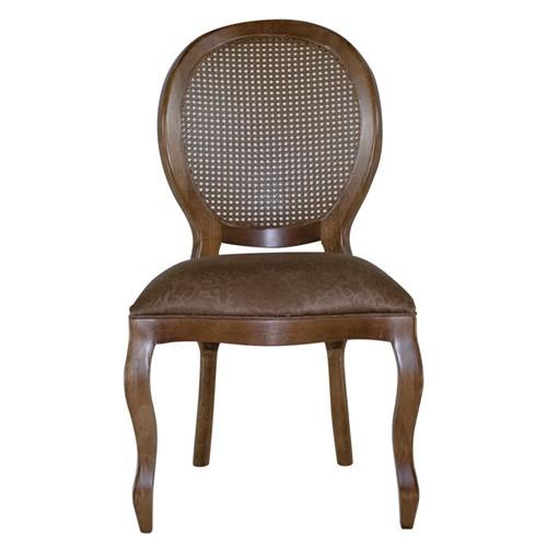 Cadeira de Jantar Medalhão Lisa Sem Braço - Wood Prime 25436 Liso