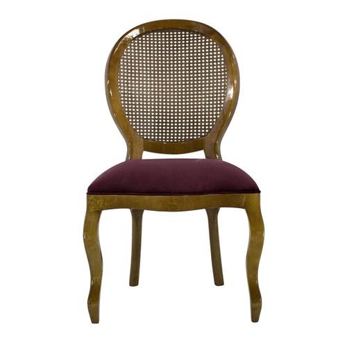 Cadeira de Jantar Medalhão Lisa Sem Braço - Wood Prime 252370 Liso