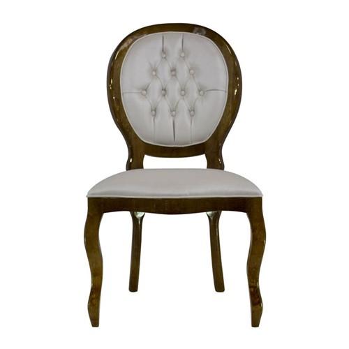 Cadeira de Jantar Medalhão Lisa Sem Braço - Wood Prime 262933 Liso