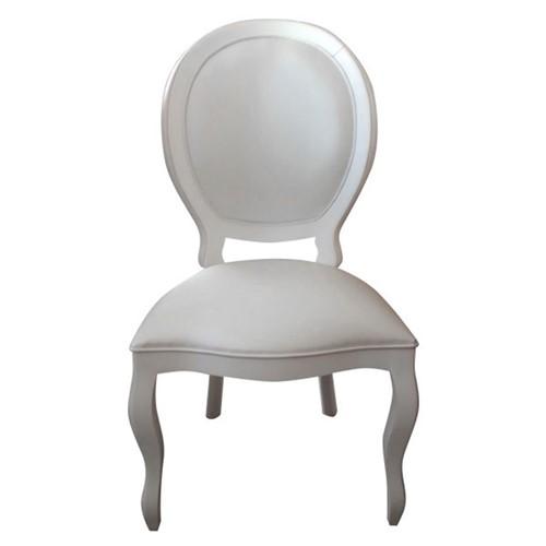 Cadeira de Jantar Medalhão Lisa Sem Braço - Wood Prime 275153 Liso