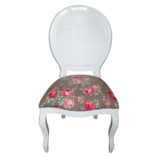 Cadeira de Jantar Medalhão Lisa Sem Braço - Wood Prime 864383 Liso