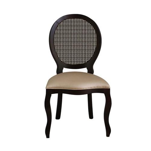 Cadeira de Jantar Medalhão Lisa Sem Braço - Wood Prime 868020 Liso