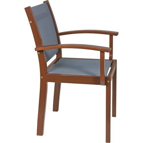 Cadeira de Madeira Tramontina em Jatoba Eco Blindage com Bracos com Tela