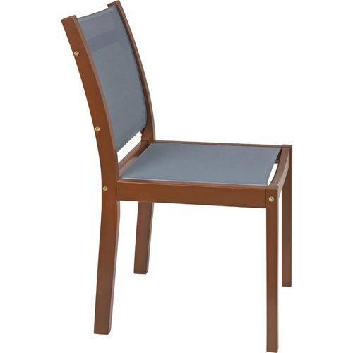 Cadeira de Madeira Tramontina em Jatoba Eco Blindage Sem Bracos com Tela