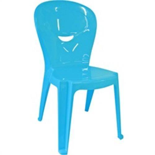 Cadeira de Plástico Infantil Vice Azul Linha Game