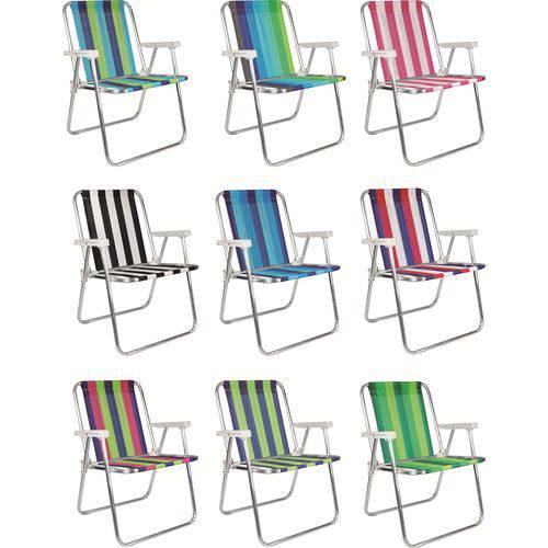 Cadeira de Praia Alta Alumínio 2101 Cores Sortidas Mor
