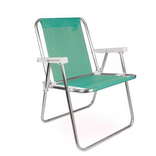 Cadeira de Praia Alta Alumínio Sannet Anis - Mor