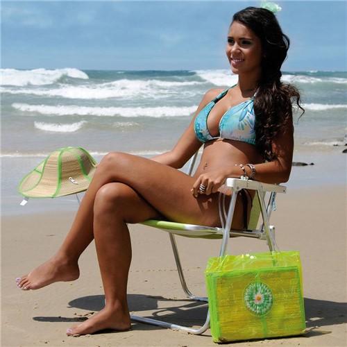 Cadeira de Praia Alumínio Dobrável Piscina Pesca Camping Jardim Sannet Verde Mor - Mr8 2278