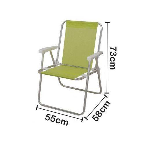 Cadeira de Praia Mor Alta Alumínio Sannet