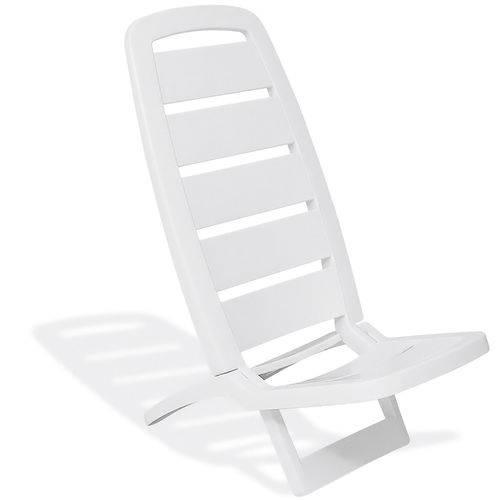 Cadeira de Praia Tramontina Guarujá Branca Dobrável Polipropileno 92051010