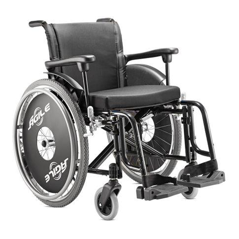Cadeira de Rodas Ágile Jaguaribe - Preto - Larg. Assento 38cm