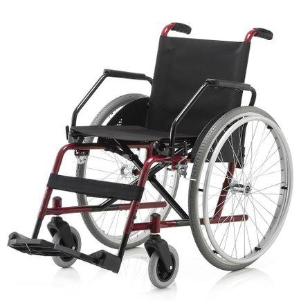 Cadeira de Rodas em Aço - Ortopedia Jaguaribe - Cantu - Epóxi Vinho