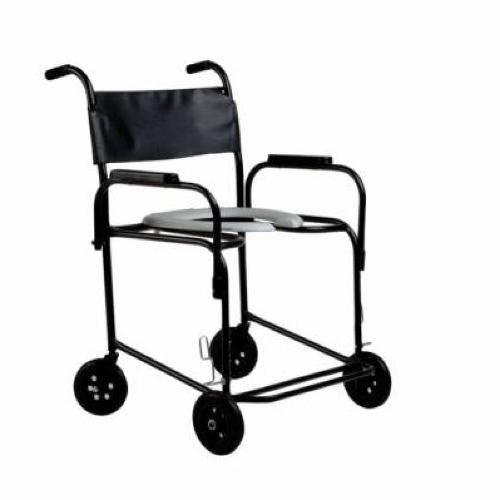 Cadeira de Rodas para Banho Higiênica Obeso Braço Escamoteável