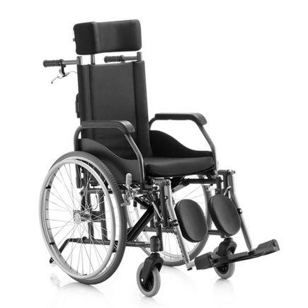 Cadeira de Rodas Reclinável - Ortopedia Jaguaribe - FIT - Preto 40
