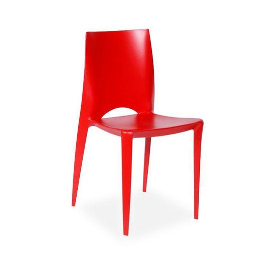 Cadeira Decorativa, Vermelha, Zoe