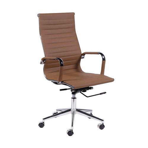 Cadeira Diretor Esteirinha Office - Couro Sintético Caramelo Caramelo