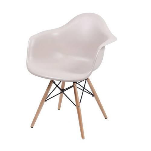 Cadeira Dkr 1120 Fendi Base de Madeira