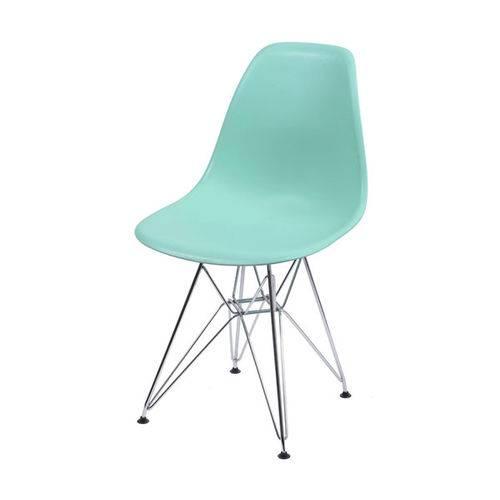Cadeira Dkr 1102 Pé Cromado Verde Tifanny