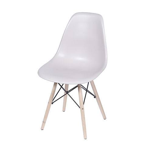 Cadeira Dkr 1102 Pé de Madeira Fendi