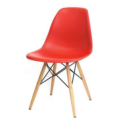 Cadeira Dkr 1102 Pé de Madeira Vermelha