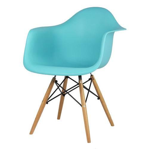 Cadeira Dkr 1120 Verde Tifanny Base de Madeira