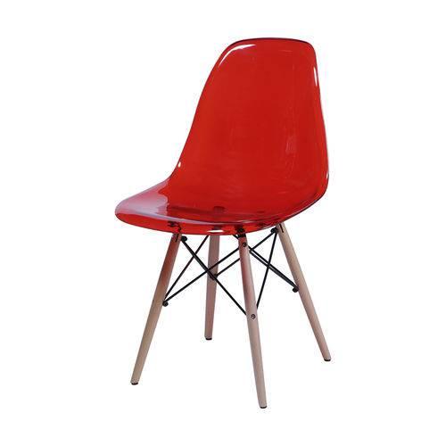 Cadeira Dkr 1101 Pé de Madeira Vermelha