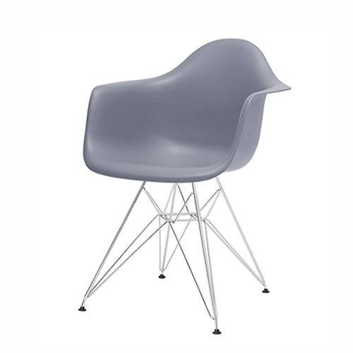 Cadeira Dkr 1121 Pé Cromado Cinza