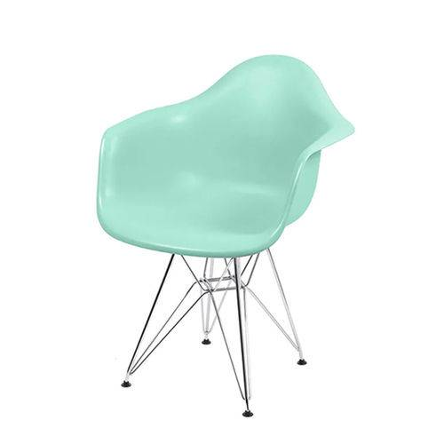 Cadeira Dkr 1121 Pé Cromado Verde Tifanny