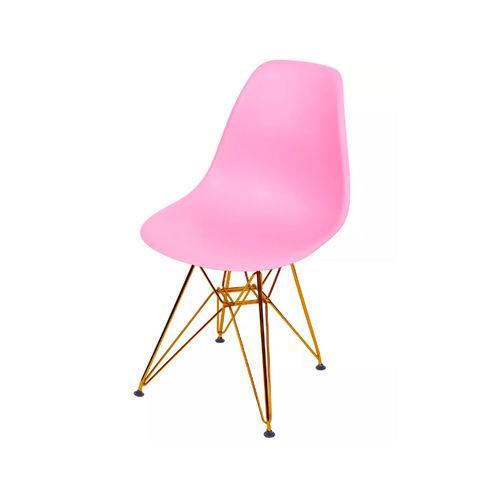Cadeira Dkr Base Cobre - Rosa