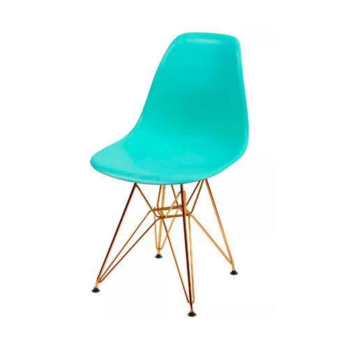 Cadeira Dkr Base Cobre - Tiffany
