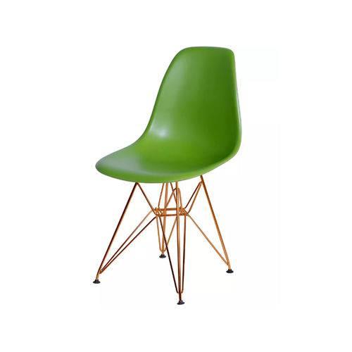 Cadeira Dkr Base Cobre - Verde