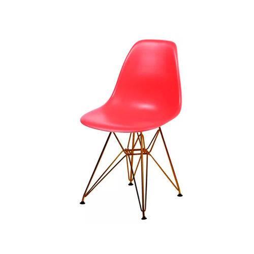 Cadeira Dkr Base Cobre - Vermelha