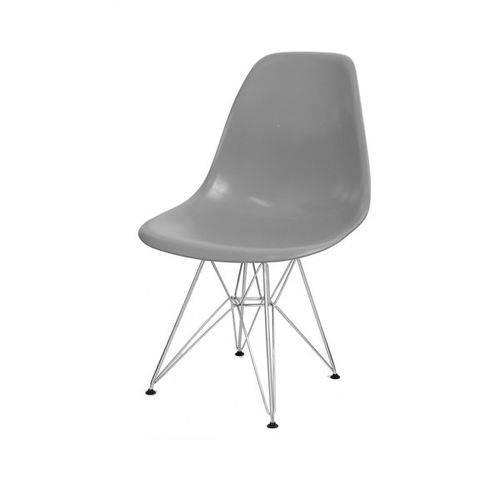 Cadeira Dkr Eames Polipropileno Base Eiffel Ferro Cinza