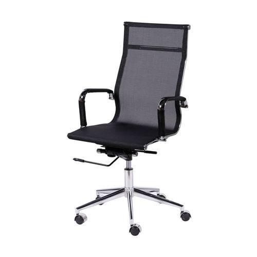 Cadeira Eames 3303 Tela Preta Alta