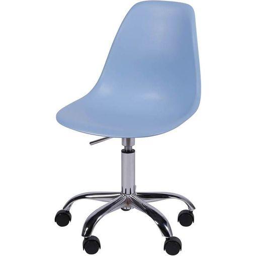 Cadeira Eames Angeles Azul PP com Rodízios OR Design 1102