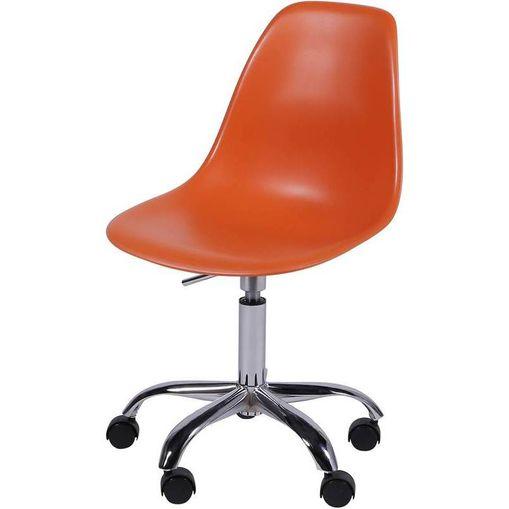 Cadeira Eames Angeles Laranja PP com Rodízios OR Design 1102