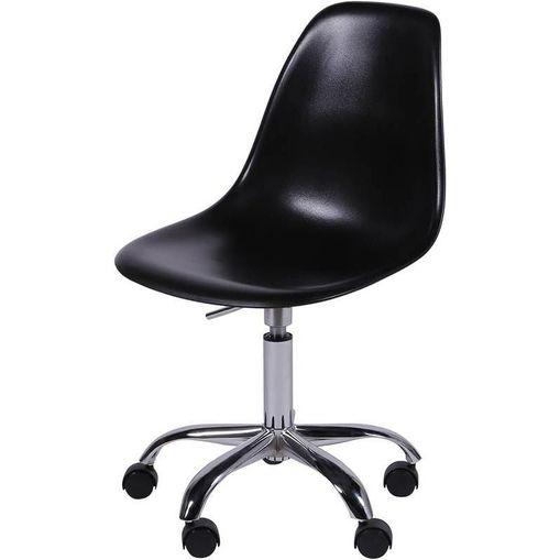 Cadeira Eames Angeles Preta PP com Rodízios OR Design 1102
