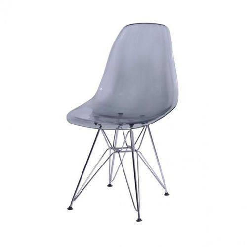 Cadeira Eames Base Cromada OR Design Fume