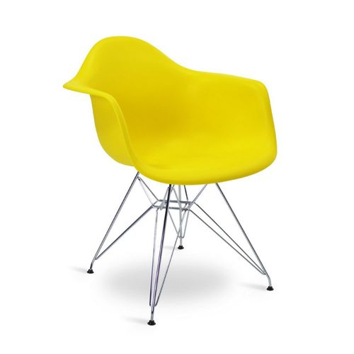 Cadeira Eames DAR Amarela Amarela