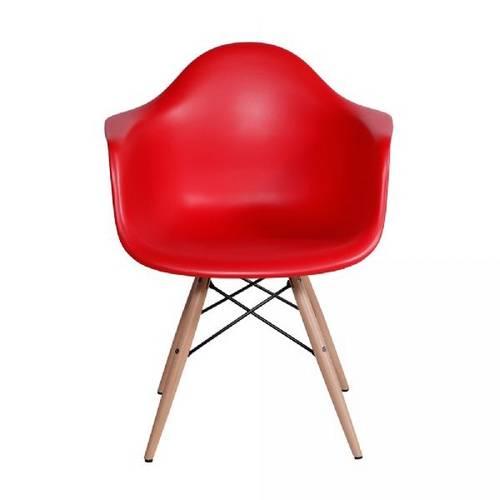 Cadeira Eames Dar com Braço Vermelho Or Design