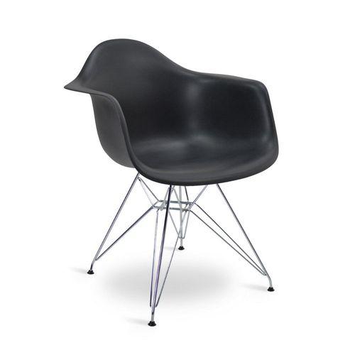Cadeira Eames DAR Preta Preta