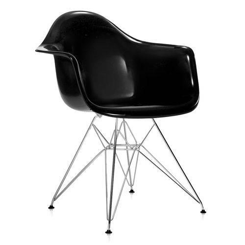 Cadeira Eames DAR - Preto Brilho
