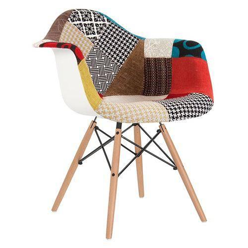Cadeira Eames DAW - Patchwork - Madeira Clara