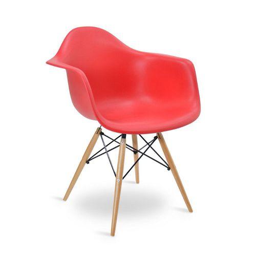 Cadeira Eames DAW Vermelha Vermelha